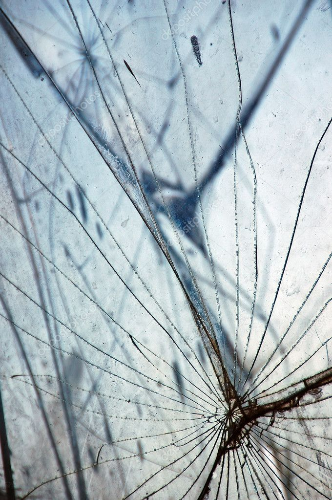 Shattered glass fragments surface texture. Abstract background. — Stock Photo #2534803