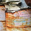 Rusty metal barrels — Stock Photo
