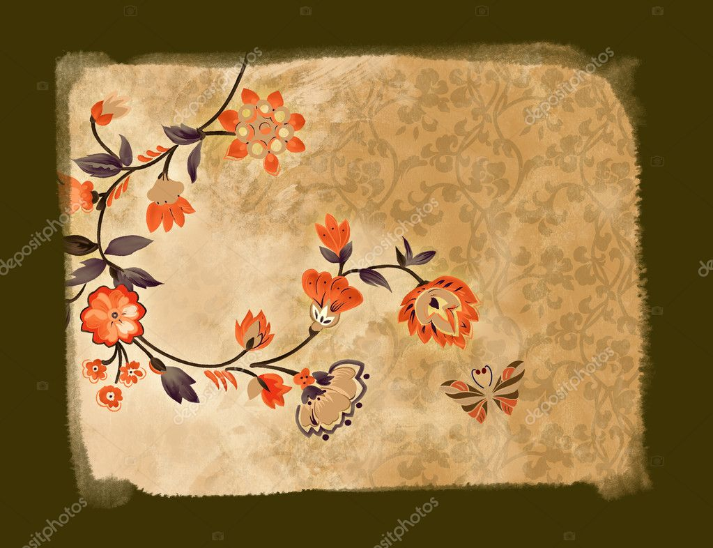 Abstract floral back  Stock Photo #1572647