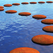 Stepping stones - Stock Photo