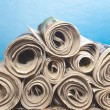 Stock Photo: Rolled upNewspapers