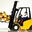 Stock Photo: Fork lift and tablets
