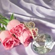 Rosebuds and diamond and pearls — Stock Photo #1590156