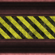 Stock Photo: Hazard warning stripes