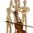 Mannequin and violin — Stock Photo