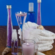 Stock Photo: Lavender bath products