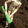 Stock Photo: Mannequin digging