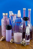 Produkty do kąpieli lawenda — Zdjęcie stockowe