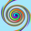 Spiral rainbow — Stock Photo