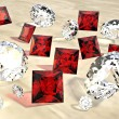 Stock Photo: Rubies and diamonds