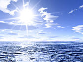 阳光和全球变暖 — 图库照片