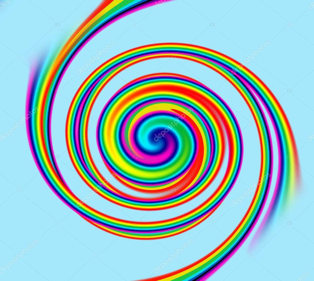 spiral rainbow - photo #33