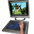 Graphics tablet — Stock Photo