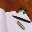 Stock Photo: Notebook and pen