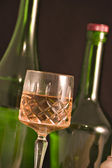 Glass and bottles — Stock Photo