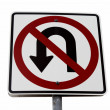 No u-turn sign — Stock Photo