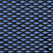 Metal grid over blue background — Stock Photo #2154264
