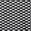 Metal grid over white background — Stock Photo