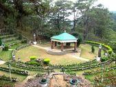 Amphitheater garden — Stock Photo