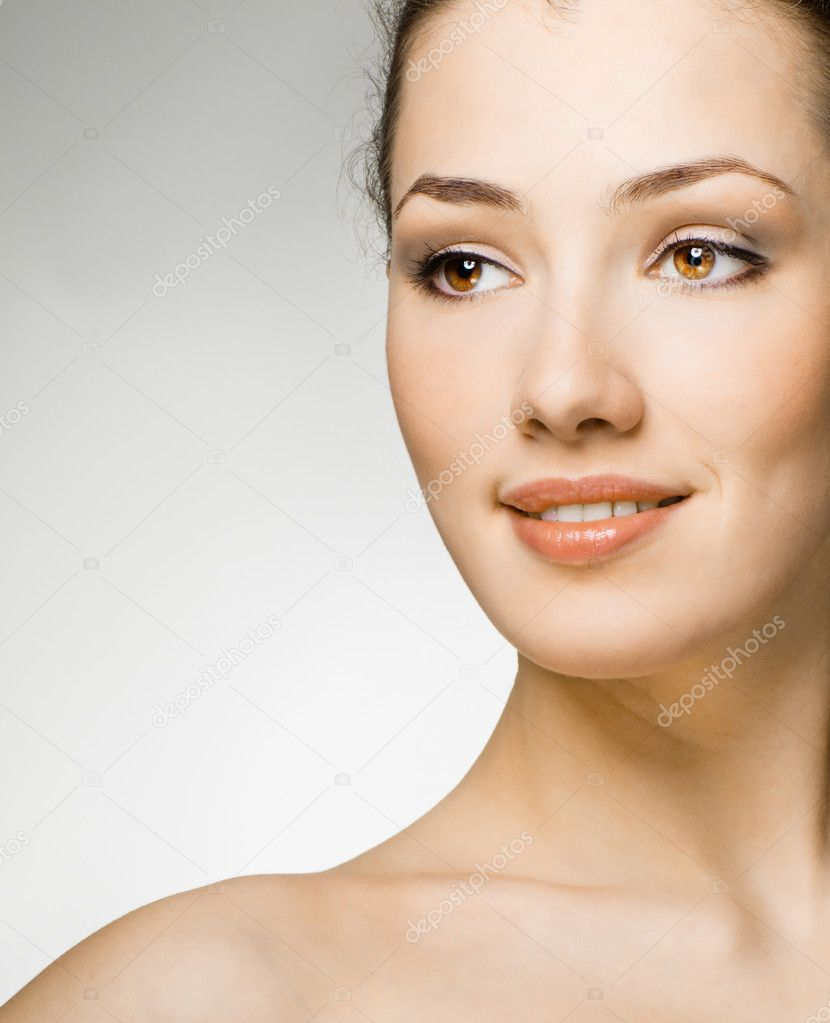 Beauty girl on the white background — Stock Photo #1597765