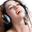 Girl in headphones 2 — Stock Photo