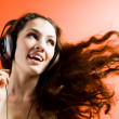 Girl in headphones — Stock Photo #1640744