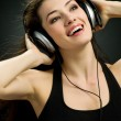 Girl in headphones — Stock Photo #1640758