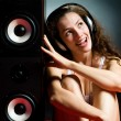 Royalty-Free Stock Photo: Listening music