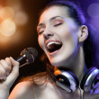 Royalty-Free Stock Photo: Singing girl