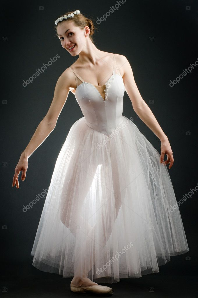 A young wonderful ballerina is dancing gracefully — Stock Photo #1642768