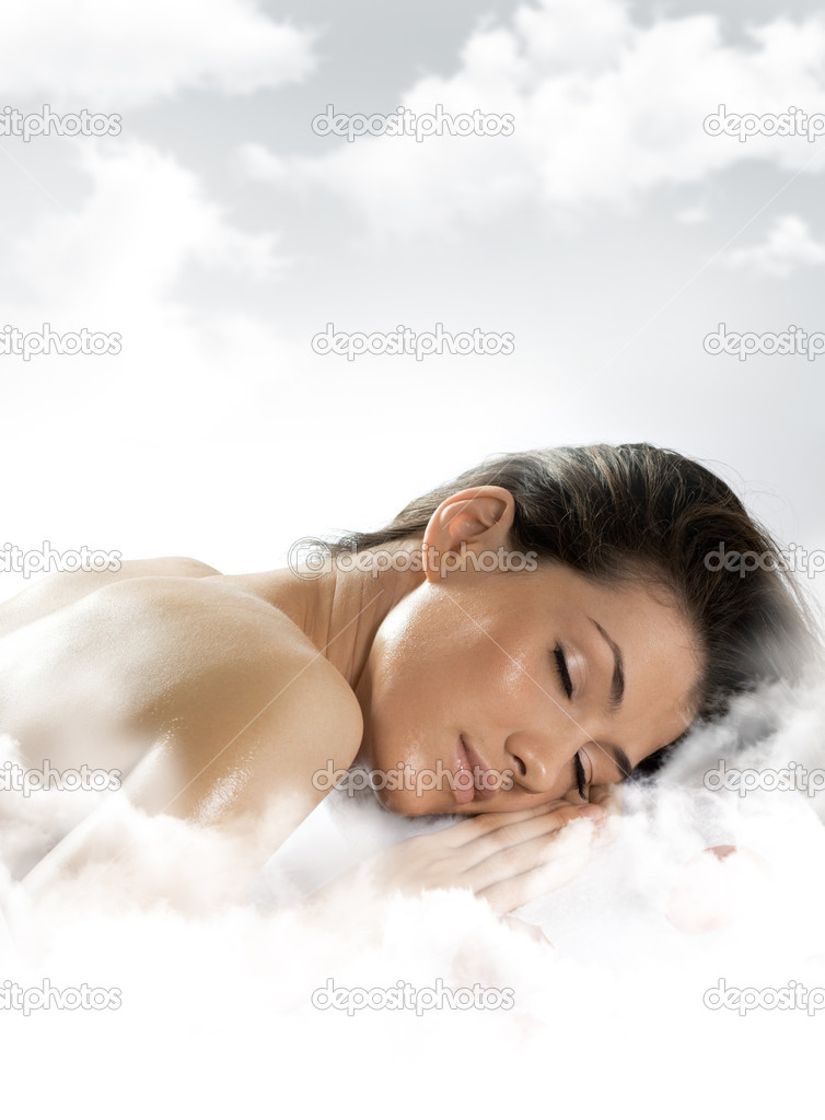 A girl is having a sleep of a just  Stockfoto #1699457