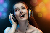 Singing girl — Stock Photo