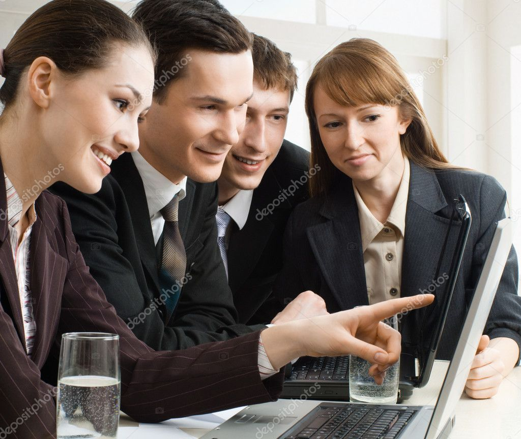 Team of successful smiling young business  Stock Photo #1716722