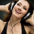 Girl in headphones — Stock Photo #1745140