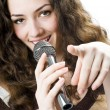 Singing girl — Foto de Stock