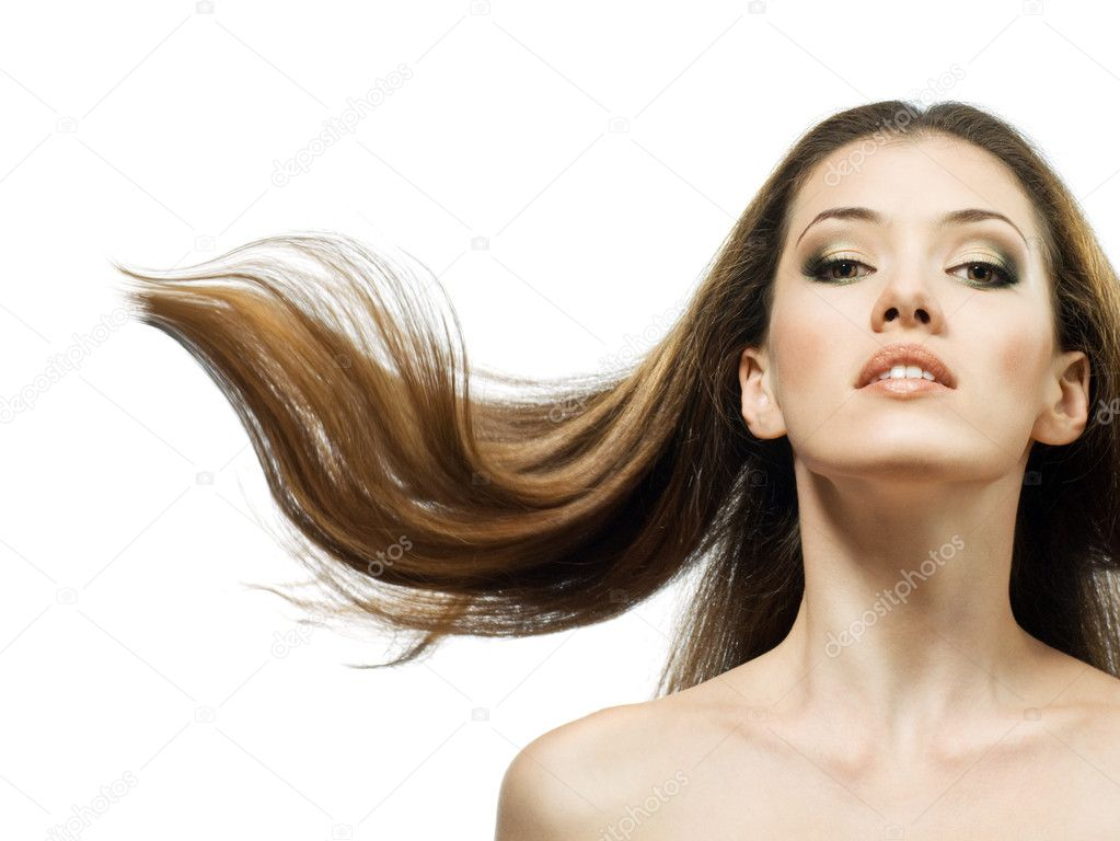 Beauty girl on the white background — Stock Photo #1744540