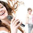 Singing girl — Stock Photo