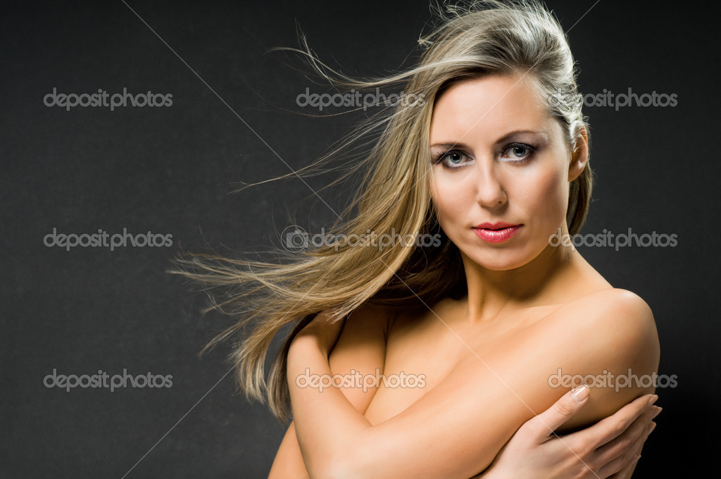 Glamour portrait of a young beautiful girl  Stock Photo #1788384