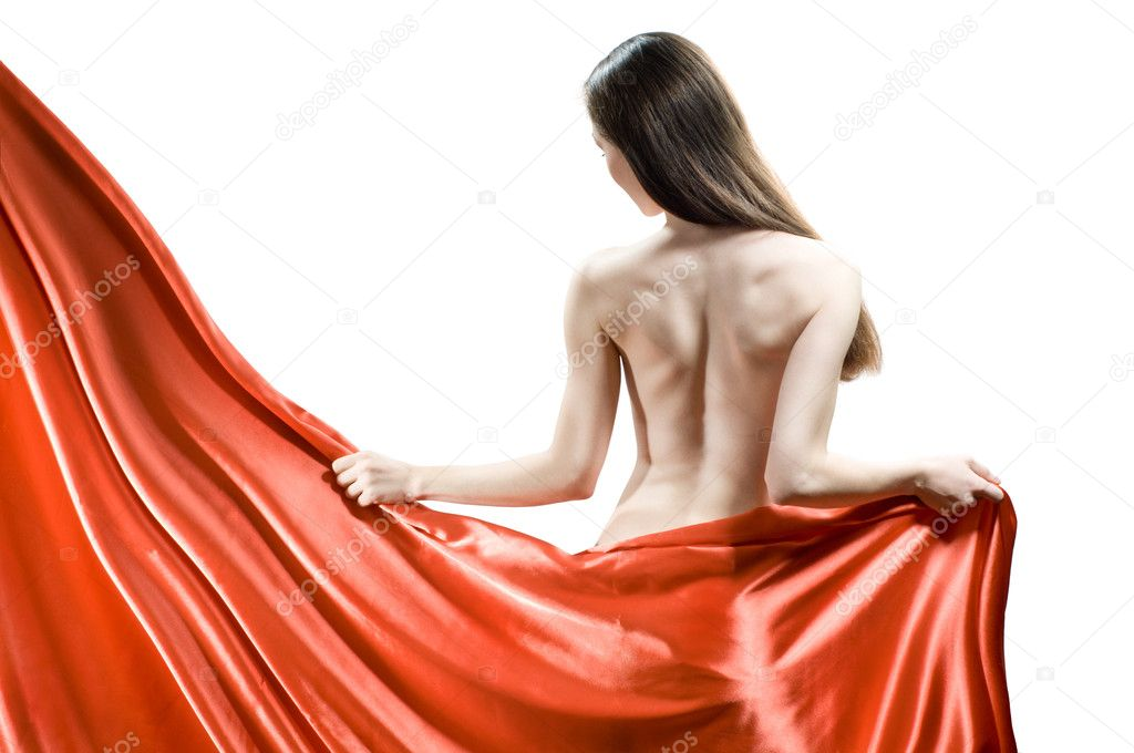 Beautiful young woman in red long dress  Stock Photo #1788436