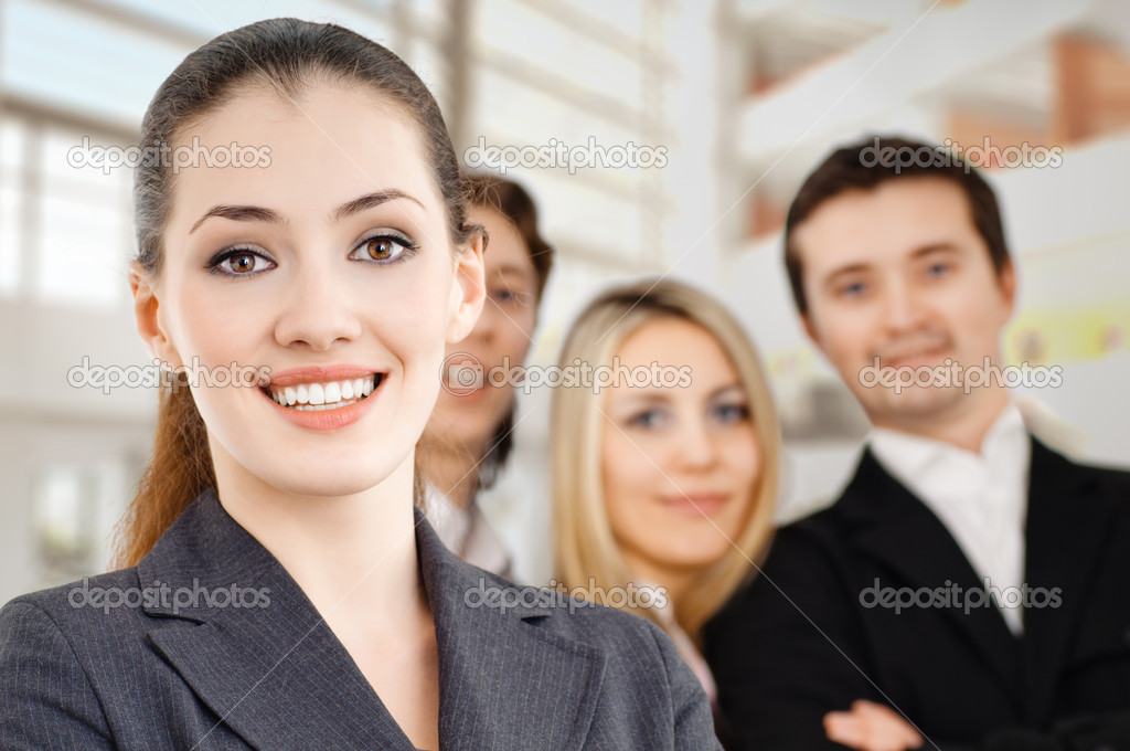Team of successful smiling young business  Foto Stock #1805812