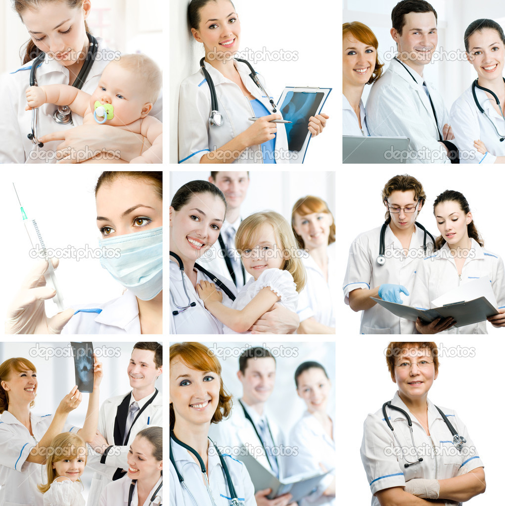 A team of experienced highly qualified doctors — Stock Photo #1823794