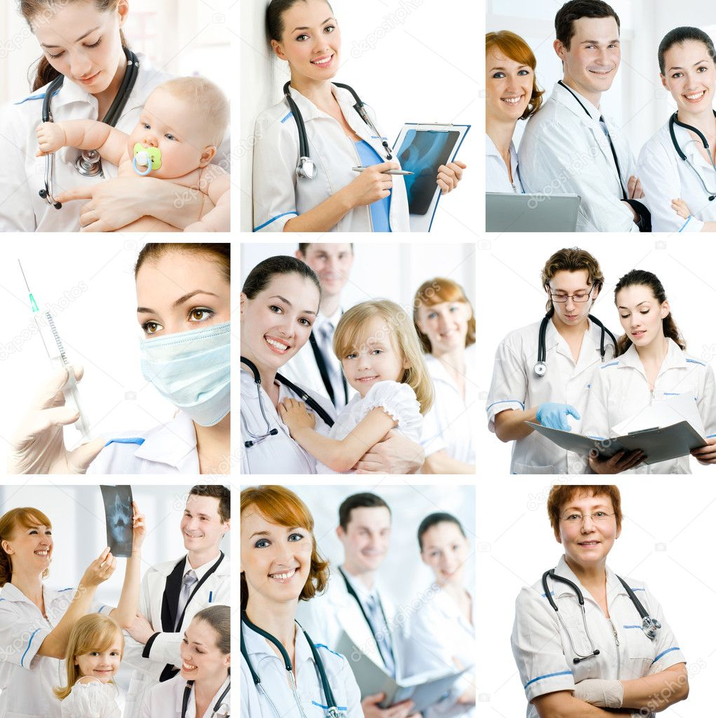 A team of experienced highly qualified doctors — Foto de Stock   #1823794