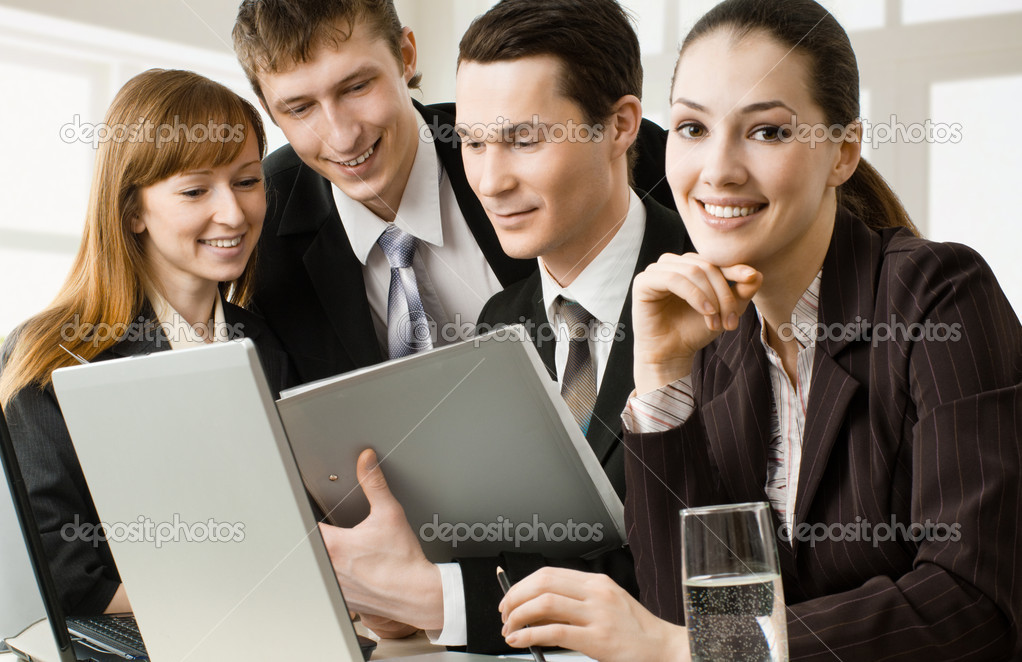 Working team of successful young business — Stock Photo #1929896