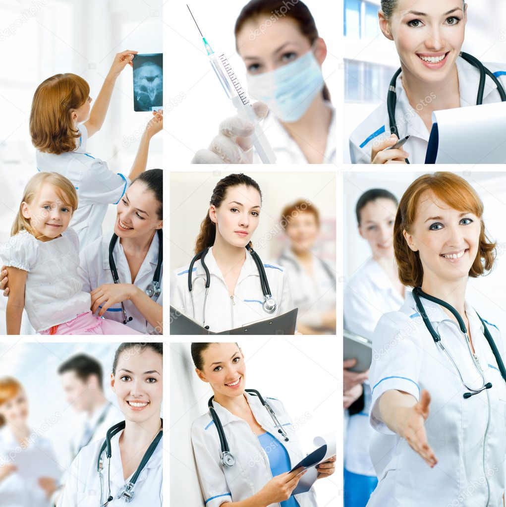 A team of experienced highly qualified doctors  Stock Photo #1930105