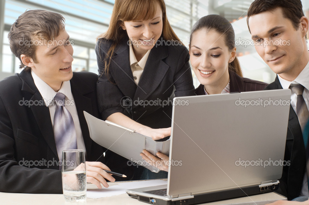 Working team of successful young business  Stock Photo #2050033