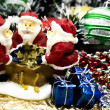 New Year's candle  Santa Claus — Foto Stock
