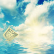 Royalty-Free Stock Photo: Sky, water and dollar