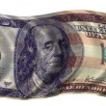 One Hundred dollar flag — Stock Photo