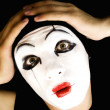 Stock Photo: Portret of mime