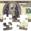 Stock Photo: One Hundred dollar puzzle
